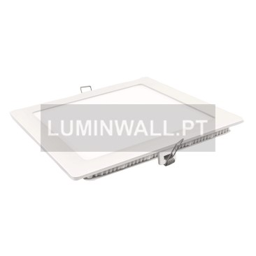 Downlight LED Quadrado Branco 12W 2700K