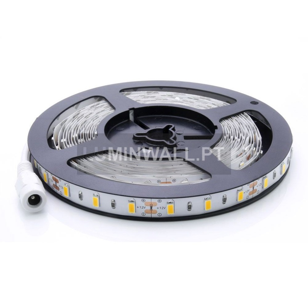 Fita LED 5050 12V 60SMD's 14.4W/MT. IP20 3000K 5MTS.