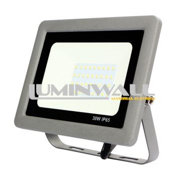 Projector LED Exterior SLIM Cinza 30W 6500K IP65